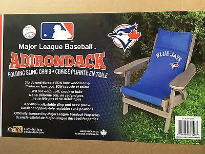 Mlb Adirondack Folding Sling Chair (Toronto Blue Jays) Sl-8100-Gry