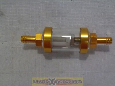 Gold/Yellow Aluminum CNC Universal Gas Fuel Filter