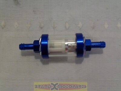 Blue Aluminum CNC Universal Gas Fuel Filter