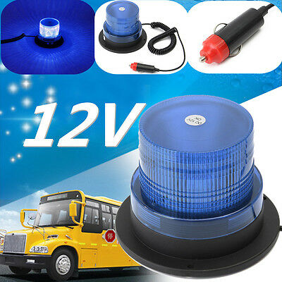 DC 12V Magnetic 10 LED Strobe Flashing Beacon Light Emergency Car Truck Bus Blue