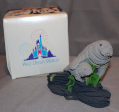 American Sand Art Corp Manatee Mom and Baby Sculpture Figurine 1993 From Disney
