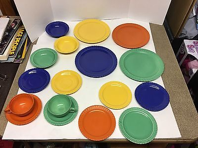 Set Of 17 Pcs 1930s Vistosa Taylor Smith & Taylor Dishes