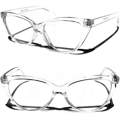 Cat Eye Transparent Frame Clear Lens Eye Glasses Retro Classic Style Women Lady