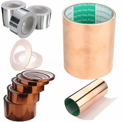 Conductive Copper Slug Foil Tape Adhesive Repellent Guitar Pickup EMI Shield