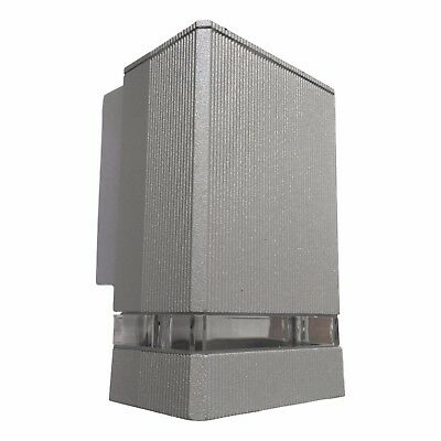 LED Modern Silver Outside House Wall Down Light Square