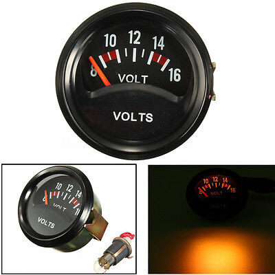 2'' 52mm Car Auto Mechanical Volt Voltmeter Voltage Meter Gauge 8~16V Black Face