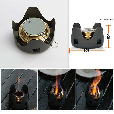 Portable Mini Spirit Burner Alcohol Stove Furnace + Stand Hiking Camping Outdoor