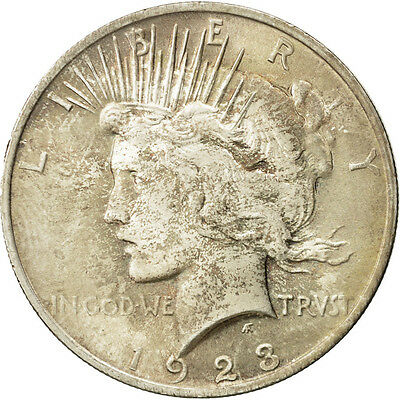 [#507270] United States, Peace Dollar, 1923, U.S. Mint, Philadelphia, MS(65-70)
