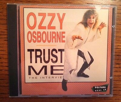 Ozzy Osbourne CD  Trust Me The Interview Limited Rare MINT!!  Black Sabbath
