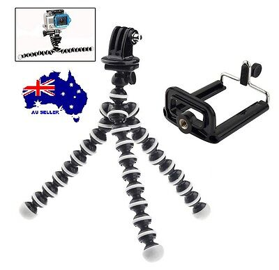 Adjustable 2in1 GoPro iPhone Tripod Mount Stand OctoFlexi Arm Camera HERO /3/4+5