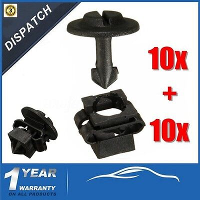 For AUDI A3 A4 A6/SKODA/VW 10Pcs Undertray Clips +Clamps Splashguard Under Cover