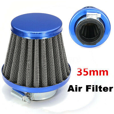 Blue 35mm Air Filter For Chinese GY6 50cc Moped Scooter ATV Dirt Bike Motorcycle