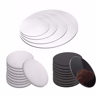 Round Acrylic Perspex Discs Plastic Circles 3mm Thick 50mm to 200mm 4 Colours