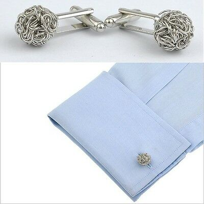 Exquisite Elegant Rose Gold Knot Twist Shirt Wedding Cufflinks Cuff Links SS89