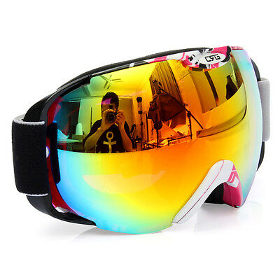 Fashion Professional Spherical Anti-fog Dual Lens Snowboard Ski Goggle Adults