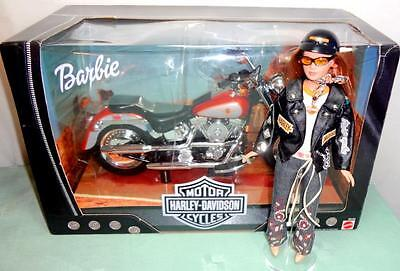"Harley-Davidson Tonner Set: OOAK 10"" Tiny Kitty Doll + NEW Barbie Toy Motorcycle"