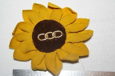 Antique Victorian Odd Fellow  Sunflower  Lodge Lapel Button Pin Badge