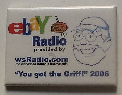 eBay Live Convention Collectible SWAG Radio Griff Pin Las Vegas 2006