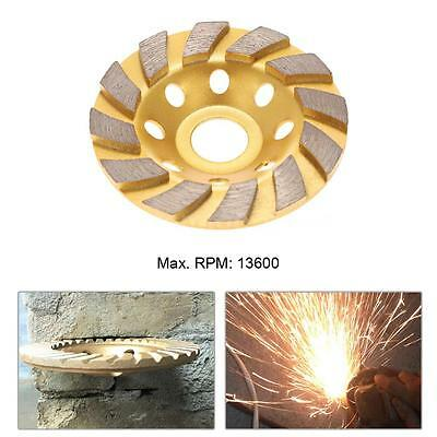 "100mm 4"" Diamond Segment Grinding Wheel Disc Grinder Cup Concrete Masonry Stone"