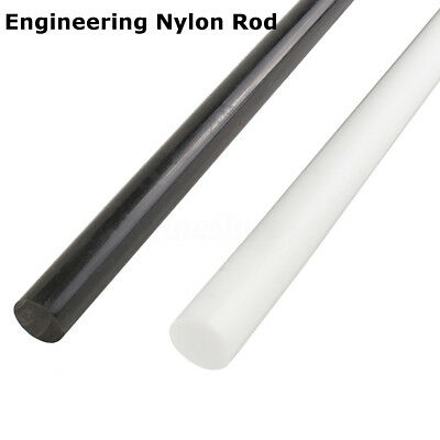 White Black Nylon Rods White Engineering Round Bar Shaft 100-600MM Long New