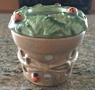 Hallmark Marjolein Bastin Nature's Sketchbook Flower Pot Votive Candle Holder!