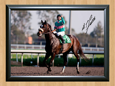 Zenyatta Mike Smith Horse Racing Signed Autographed A4 Photo Poster Memorabilia