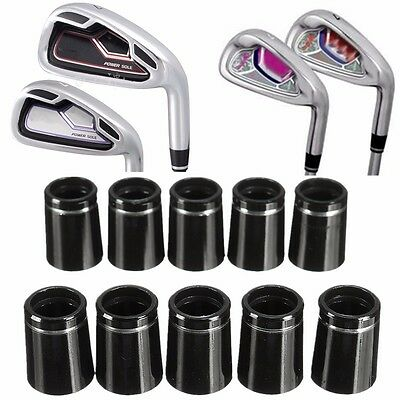10x Golf Component Taper Tip Ferrules Adapter & Silver Ring For 0.335 Iron Shaft