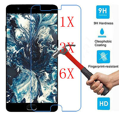 6Pcs 9H+ Premium Tempered Glass Screen Protector Cover For OnePlus 5 A5000 2.5D