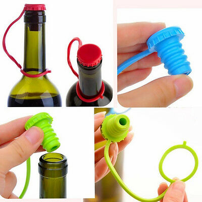 UK Home Anti-lost Rubber Bottle Stopper Hanging Button Wine Beer Cap Plug Useful