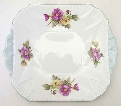 Shelley BEGONIA (DAINTY SHAPE) Handled Square Cake Plate 665086