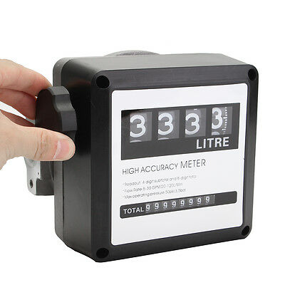 4 Digital For Diesel Gas Fuel Oil Flow Meter Counter Gauge High Accuracy 1%