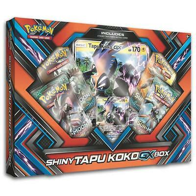 POKÉMON TCG Shiny Tapu Koko GX Box includes 4 Booster Packs