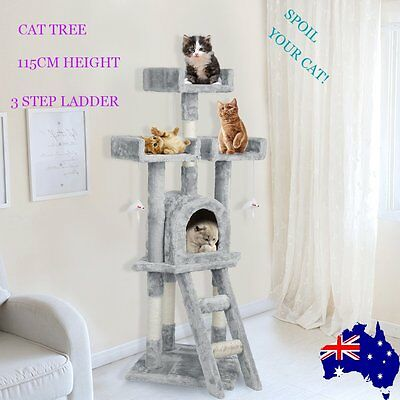 115CM Cat Tree Tower Scratching Post Kitten Pet Fun Furniture Toy Play House %