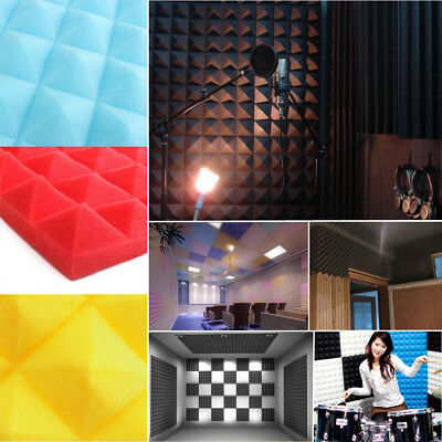 4~20Pcs Acoustic Foam Studio Soundproof Absorption Treatment Panel 50*50*5.5cm