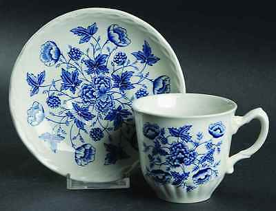 Grindley OLD CHELSEA BLUE (WHITE BACKGROUND) Cup & Saucer 170582