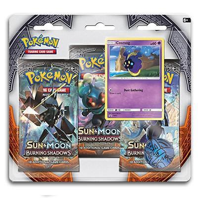 POKÉMON TCG Sun & Moon Burning Shadows 3 Pack Blister - Cosmog