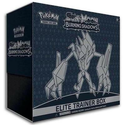 POKÉMON TCG Sun & Moon Burning Shadows Elite Trainer Box includes 8 booster pack