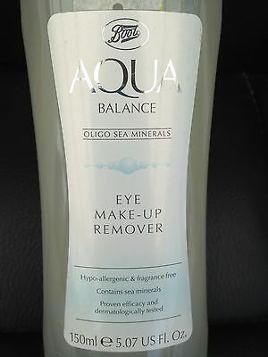 Boots Aqua Balance Eye Make Up Remover With Sea Minerals 150ml BRAND NEW