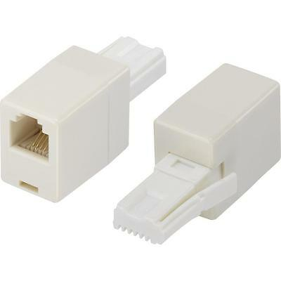 UK BT Telephone Plug To RJ11 Socket Adapter Connector Plug Straight Wire Adaptor