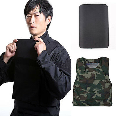New Concealable Bullet Proof Vest + Stab Proof Body Armor Steel Panel One Size