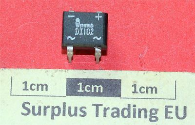 DI102 SINGLE PHASE 100V 1.0 AMP BRIDGE RECTIFIER DIL (Pk of 2)