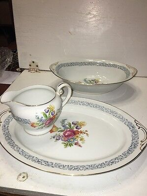 Lot Of 3 Pieces Aichi Sheffield Design China. Made In Occupied Japan