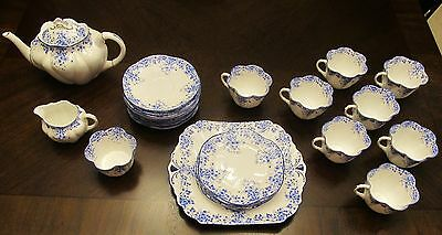 Set of Shelley Dainty Blue China 28 Pieces!