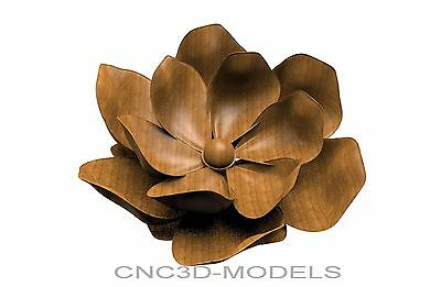 3D MODEL STL for CNC Router Engraver Carving Artcam Aspire Flowers Rose 8529