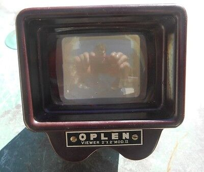OPLEN Viewer 2 x 2 MOD.II Vintage Slides 35mm Photography untested