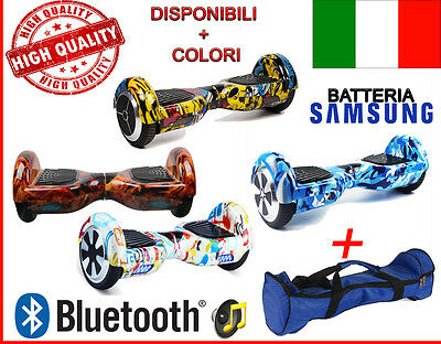 "Overboard Smart Balance Monopattino Elettrico Scooter Bluet. -6.5"" Fantasy+ Bag"