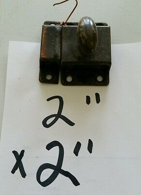 Old Vintage 2 By 2 Inch Cabinet Latch Lock Shabby Chic (H)