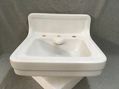 Antique Ceramic White Porcelain Wall Mount Bath Sink Vtg Eljer Plumbing 436-17E