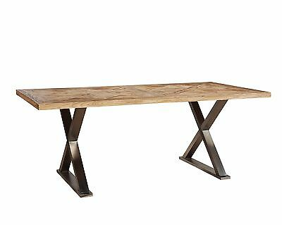 Super Stainless Cross Leg Dining Table Reclaimed Wood Stainless Squirreltailoven Fun Painted Chair Ideas Images Squirreltailovenorg