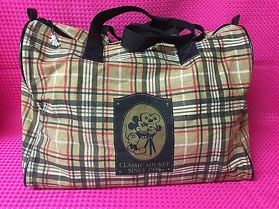 Disney Mickey Mouse Plaid Tote Bag FREE SHIPPING